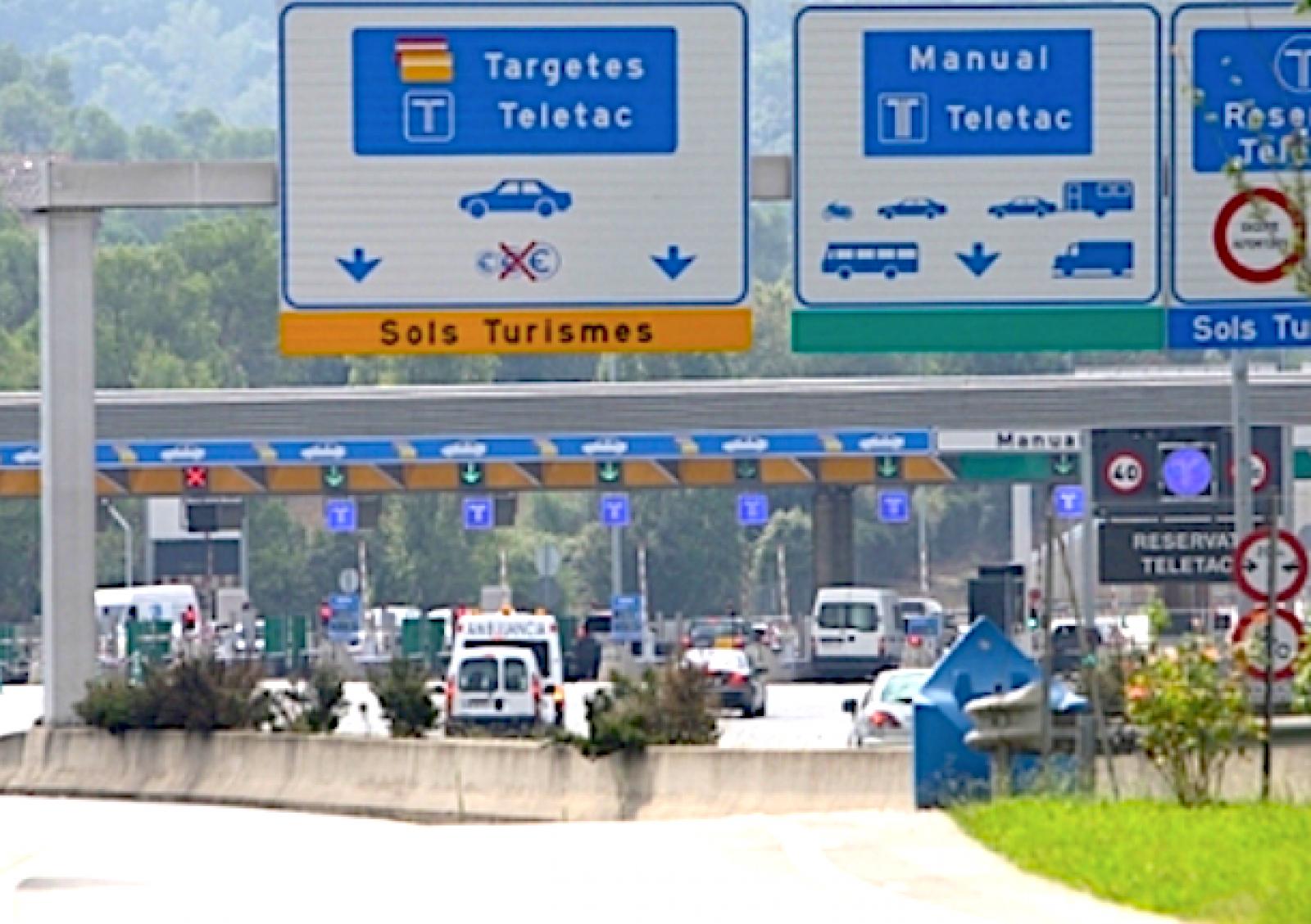 El peatge dels Túnels de Vallvidrera