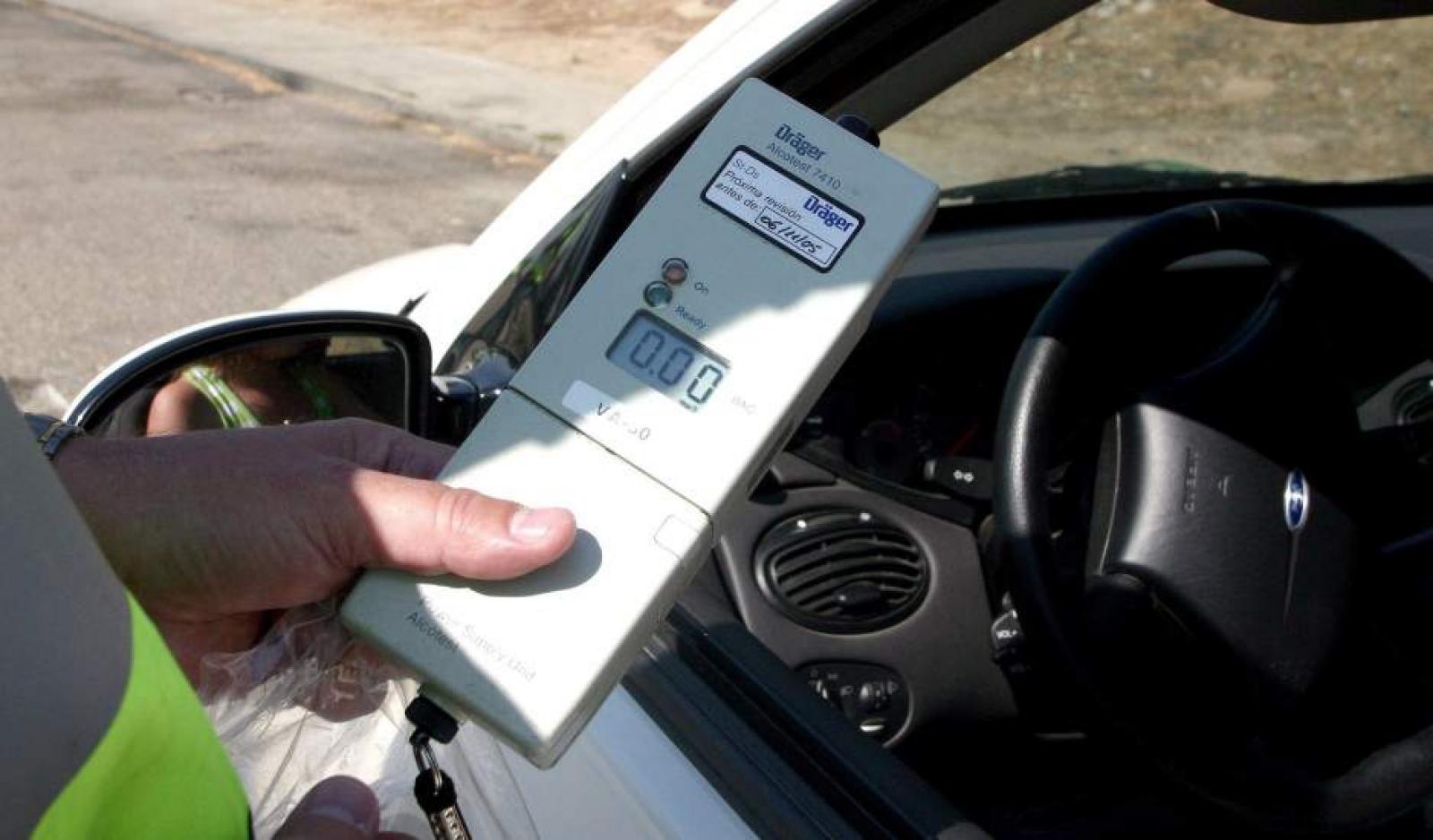 Prova d'alcoholèmia a un conductor