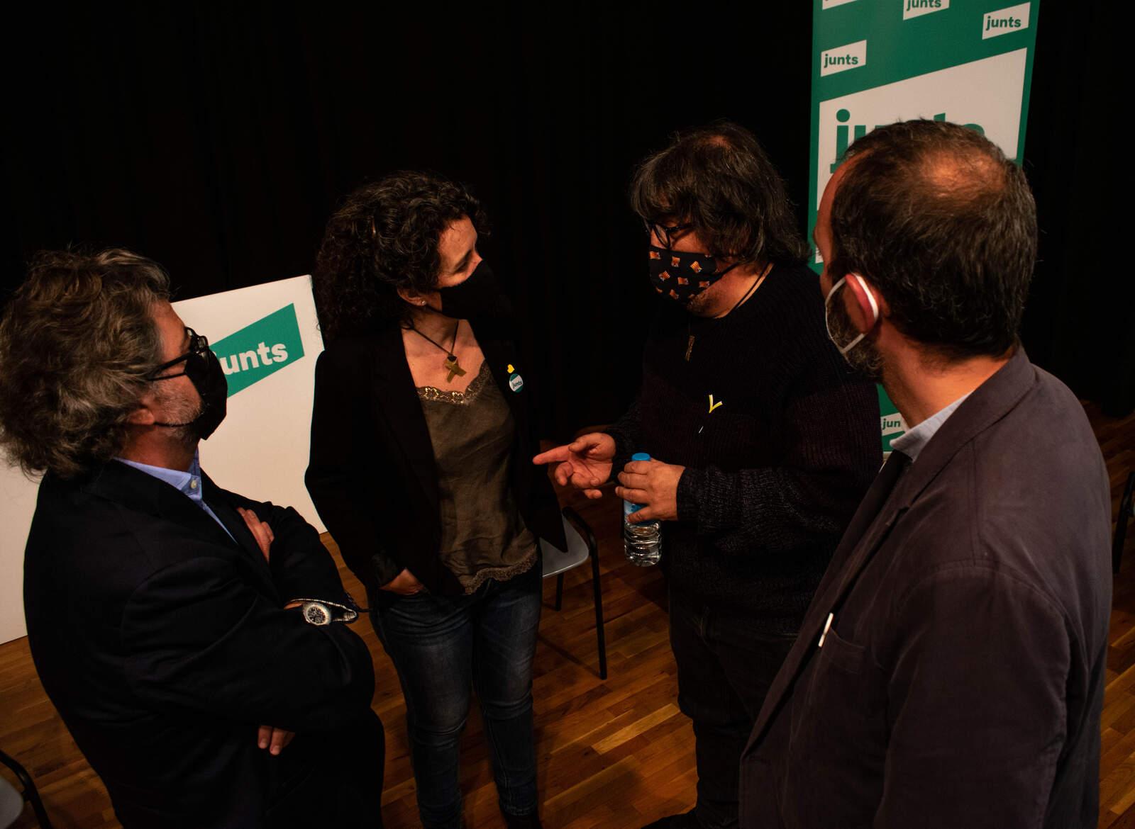 Antoni Castellà, Montserrat Caupena, Jordi Pesarrodona i Jordi Noguera
