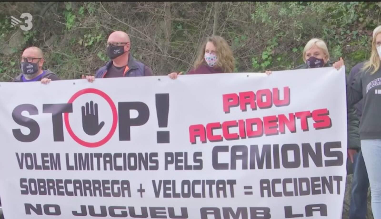 El veïns, farts dels accidents a la carretera de Castellar a Terrassa