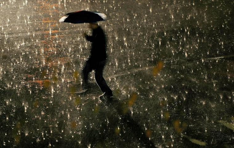 Imatge de pluja.    delCamp.cat