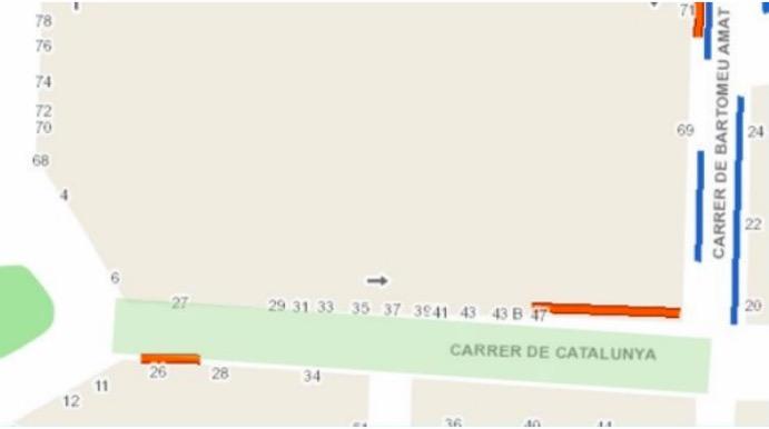Mapa amb la zona afectada per les obres en les canonades d'aigua   Aj. Terrassa