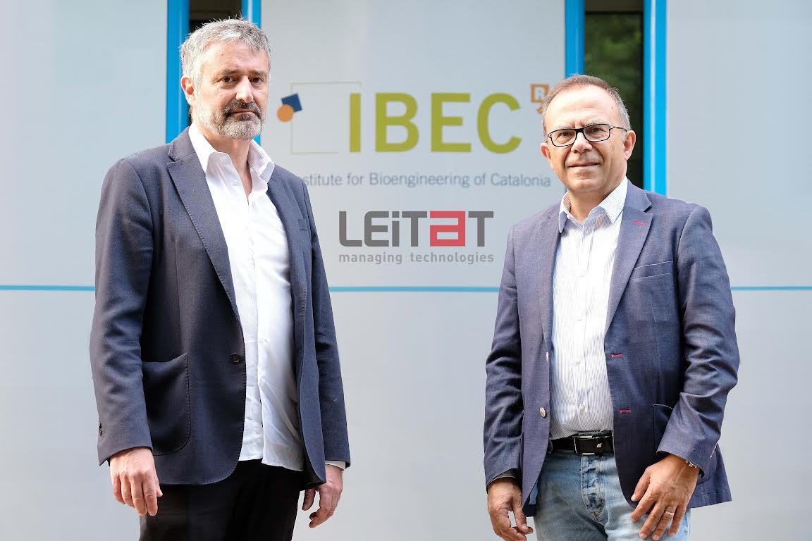 Esteve Trias, director mèdic de LEITAT, i Josep Samitir, director de l'IBEC | LEITAT