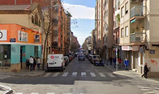 El carrer Colom, on va passar l'atropellament   G.M.