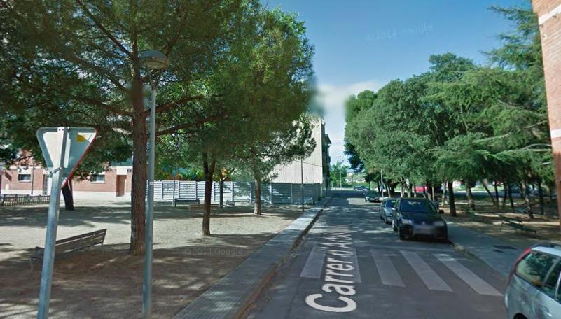 Carrer d'Arbúcies amb la plaça Iu Pons   G.M.